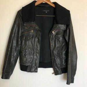 Theory original nyree leather jacket